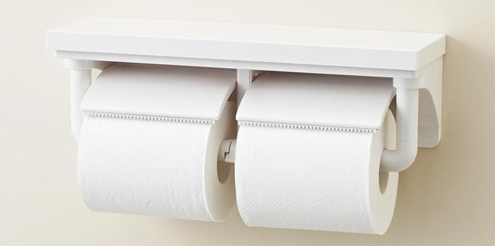 取り替えの手間が減るため人気の2連型紙巻器